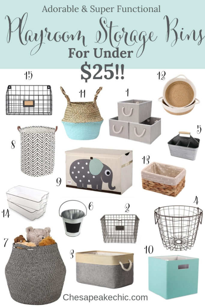 Adorable And Functional Playroom Organization Solutions For Under $25!